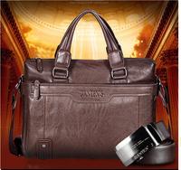 Messenger Bags The new leather briefcase handbag business and leisure shoulder brand men messenger bag men's bags free shipping