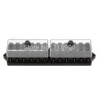 12V 12 Way Car Truck Automotive Blade Fuse Box Holder Circuit ATO ATC free shipping