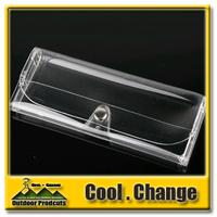 New 2014 PVC Transparent Glasses Box Presbyopic Glasses Case Polarized Glasses Clip Plastic Box Myopia Frame Box