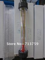 Free shipping LZS-15 water flow meter liquid rotameter flowmeter flow sensor 10-100L/H Long tube