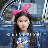 Free Shipping Lovely Rabbit ears Hair accessories girl Hard hair bands for Princess birthday party,Big Rabbit Ear headband P9