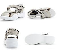 2014 new summer shoes women sandal women genuine leather platform shoes sandals mother wedges shoes sandals for women