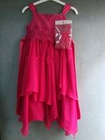 2014 summer new top quality Girl Chiffon temperament dinner dress Knee length Irregular hem