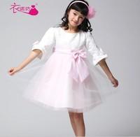 2014 New Hot Selling Children Latest Dress Style!Flower girl princess dress wedding puff dress