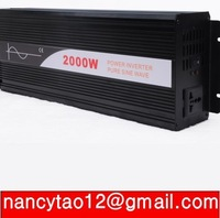 2000W Watts Peak Real 2000W 2000 Watts pure sine wave  Power Inverter 12V DC to 230V AC for solar panel + Free shipping