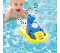 Aqua fun bubble electric hippo music beaver baby bath toys