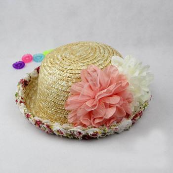 2014 в розницу родитель - ребенок стиль оптовая продажа лето дети кружево цветы соломенной шляпе девочки пляж шляпы солнца