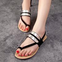 2014 women's shoes fashion flat heel sandals female fashion hasp open toe flat low-heeled gladiator style shoes  -07
