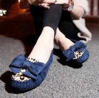 Fashion 2014 boat shoes fashion color block women's leopard print shoes flat punk preppy style flat heel shoes  -07
