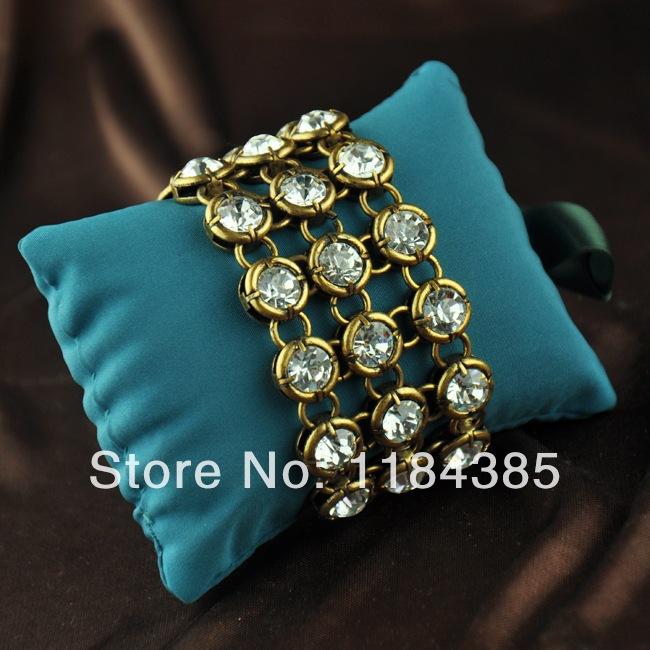 Free shipping new arrival JCR rhinestone aging treatment lady bangles(China (Mainland))