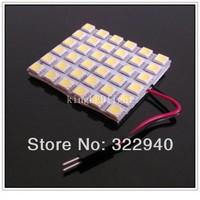Free shipping 2pcs 36 SMD 5050 white Light T10 BA9S Festoon 3 Adapters 12V LED reading Panel Car interior Dome light