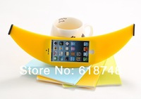 Free Shipping 1pcs/lot Stylish Big Banana Outside Shape TPU Protector Silicon Phone Case Cover For iphone 4s /5s