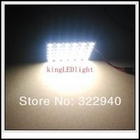 Free shipping 10pcs DC12V LED reading Panel Car interior Dome light 36 SMD 5050 white Light T10 BA9S Festoon 3 Adapters