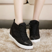 Popular 2014 women's shoes attached the skates shoes female fashion HARAJUKU female black shoes high-top shoes
