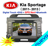 7 inch Car DVD for Kia Sportage(2010- Present) with GPS Navigation Bluetooth ATV iPod USB SD Radio Free map Free Shipping