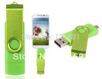 Smart Phone USB Flash Drives Rotatable OTG 128MB 4GB 8GB 16GB 32GB USB Flash Drive for Cell Phones & Tablet PCs (Green)