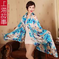 Silk scarf 2013 silk scarf female autumn and winter all-match long design silk mulberry silk scarf  Free shipping