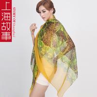 Jungle silk long silk scarf mulberry silk scarf sun cape female  Free shipping