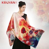Quality silk mulberry silk scarf cape long design autumn silk scarf  Free shipping