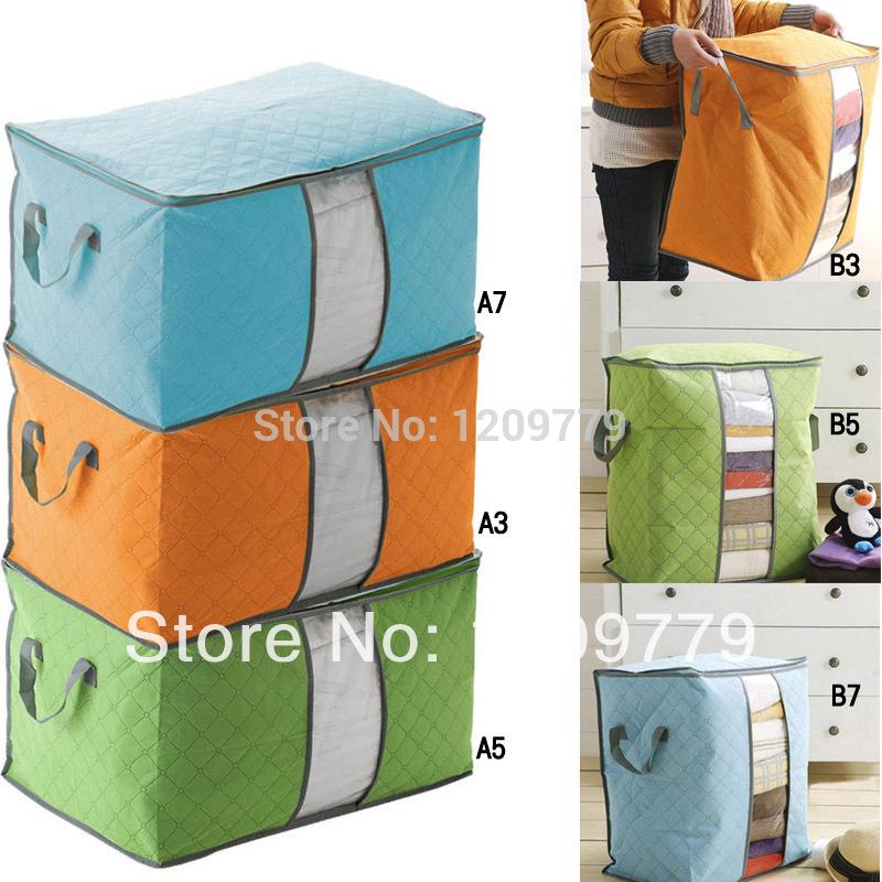 Free shipping New Foldable Home Basics Fabric Storage Box Case Handle IA333 W(China (Mainland))