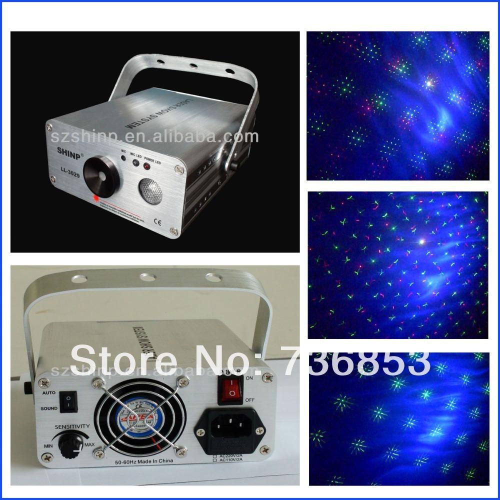 150mW RG Twinkling Laser +1W blue LED Djs Disco Party Laser Light(China (Mainland))