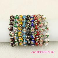 Free shipping 2014 new fashion Cloisonne round bead bracelet
