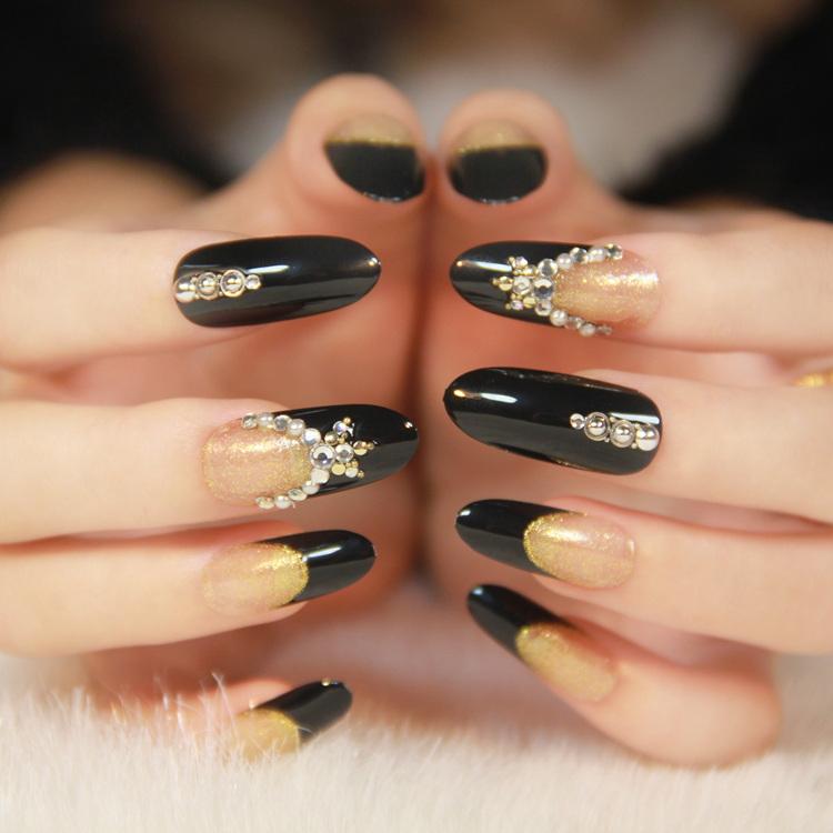 Fake Nails Round Toe Long