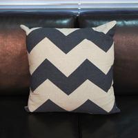1PC Vintage Classic Black White Stripe Simple Europe Style Cotton&Jute Sofa Cushion Throw Pillow Headrest EJ671006