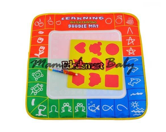 Drop Shipping 50 x 50 cm Water Drawing Toys Mat Aquadoodle Mat&1 Magic Pen/Water Drawing board/baby play mat 19381(China (Mainland))