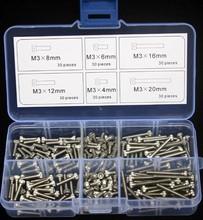 Stainless Steel Hex Socket Head Cap Screw M3 Qty 180pcs Accessories Kit M3*20mm(China (Mainland))