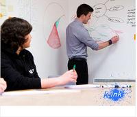 45*200cm Removable Whiteboard / White Blackboard Vinyl Sticker , Vinyl Chalkboard Wall Sticker Children Paint / Home Decoration