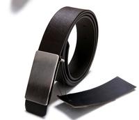 HOT Fashion belt MEN'S PU Leather Waist Strap Belts Automatic Buckle Black free shipping