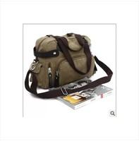 free shipping, Canvas bag messenger bag male casual backpack vintage messenger bag man bag  briefcase