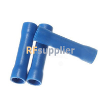 100x 16-14 AWG BV2 Blue Flared Butt Insulated Connector Terminals Crimp Electric