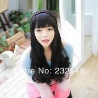 Hot Sale Big Wave Half Head Wig Lady Fashion Cute Design Black, Dark And Light Brwon Colors