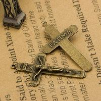 Diy handmade materials alloy accessories alloy jesus cross the ancient bronze 8 6