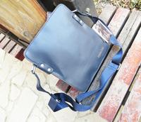 Free shipping  bag vertical version of male 2014 blue one shoulder cross-body backpack  designer backpack fashion backpack