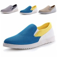 Summer male shoes net fabric male trend shoes network male sports casual shoes mesh breathable plate shoes