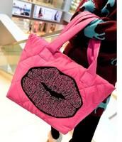 Free shipping  2014 winter pearl down bag space cotton bags  women's handbag bag  shoulder bag popular handbag and messenger bag