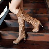 High-leg knee-length boots fashion boots snow boots thin heels boots high heels boots