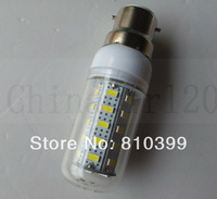 B22 7W 800LM 36 SMD 5730 Super Bright Led Corn Light Bulbs Lamps Warm White/White 200~240V Freeshipping