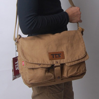 Male shoulder student school male casual canvas messenger sports commercial messenger bag free shipping