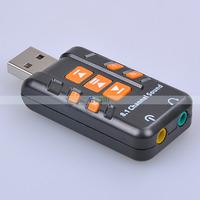 External USB 2.0 Virtual 8.1 Channel CH 3D Audio Sound Card Adapter Converter