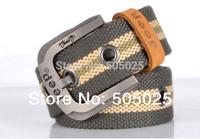 cinto masculino marca famosa designer men Belts canvas First layer Leather edging cinturones mujer 125 CM
