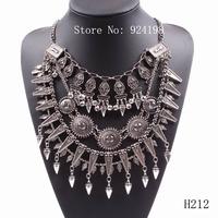 Minimum Order $10 fashion 2014 new brand spike pendant big statement chunky necklace fashion jewelry for women free shipping