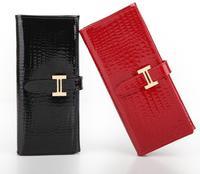 Women wallet  2014  Patent genuine leather wallet Women red leather wallet  Brand Fashion Women Card Coin Purses