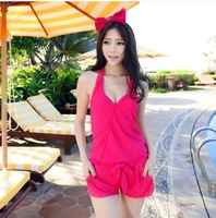 Free Shipping 2014 NEW ARRIVAL women swimming suit fashion sexy swimwear 3pcs/set shoulder straped swimsuit  SM1423