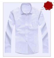 free Shipping Long sleeve Shirt Slim Business Men Shirt Long sleeve Thin section Cotton Men's boss clothing 25