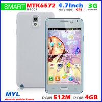 2014 original mini note3 H9007 MTK6572W Dual Core Smart Phone 4.7inch QHD 4G ROM 5MP camera 3G GPS,free shipping