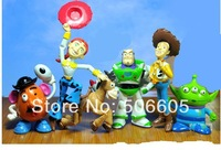 free shipping 500set New 6pcs a set  TOY STORY 3 BUZZ LIGHTYEAR WOODY Figures SET Free shipping& Wholesale Classic toys